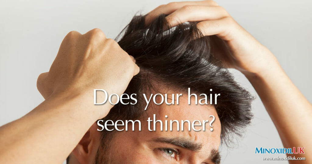 Does your Hair Seem Thinner - MinoxidilUK