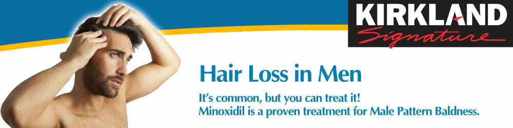 Hair Loss in Men - Minoxidil is a proven treatment for Male Pattern Baldness