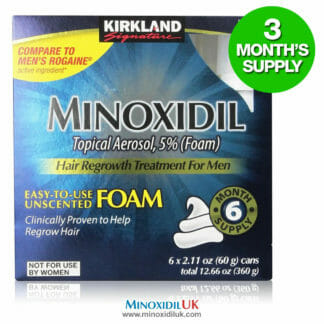 Minoxidil Foam - 3 Month Supply - 3 Bottle