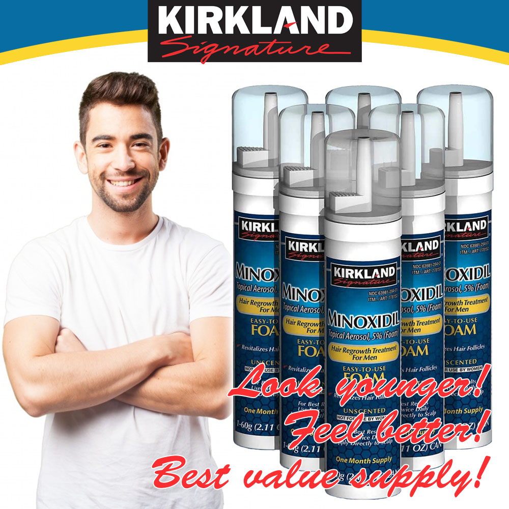 Minoxidil Foam 6 Months Supply Best Value From Kirkland Pipet Plastik 03