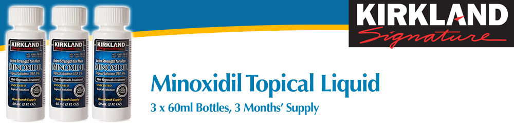 Minoxidil Topical Solution 3 Bottles 3 Months Supply