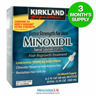 Minoxidil Topical Solution - 3 Month Supply - 3 Bottles
