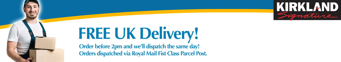 Delivery throughout the UK, FREE by First Class Parcel Service