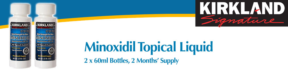 Minoxidil Topical Solution 2 Bottles 2 Months Supply