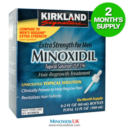 Minoxidil Topical Solution - 2 Month Supply - 2 Bottles
