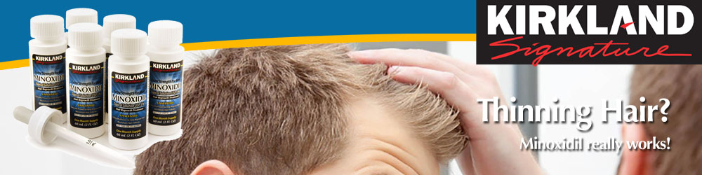 Thinning Hair - Minoxidil Hair Loss Treatment