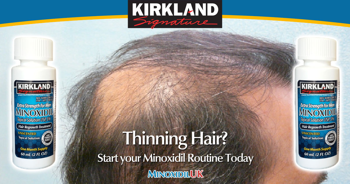 Thinning Hair Treatment - Start your Minoxidil Routine Today