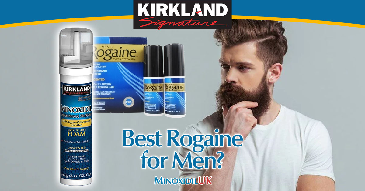 Best Rogaine for Men - Kirkland Signature Minoxidil UK